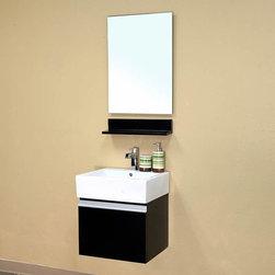 Bellaterra Home - Denali Single Bathroom Vanity - Color: Dark espressoType: Bathroom vanityMaterials: Birch,white ceramic