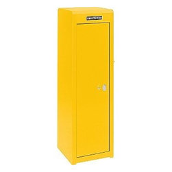 "16"" 4-Drawer Side Locker - Yellow - Using tool boxes as storage is a stylish and functional way to incorporate some construction into the decor. Yellow versions are my favorite, but cherry red, sleek silver or jet black are also fun options."