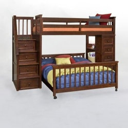 School House Stair Loft With Chest End Cherry Whether