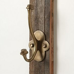 """Anthropologie - Forest Found Hook - Hardware requiredWood, iron10""""H, 2.75""""W3.25"""" projectionImported"""