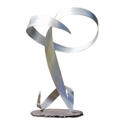 Jon  Koehler Sculpture - Ambiguous - Kinetic Stainless Steel Sculpture - 38 x 19 x 16
