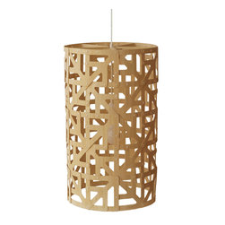 David Trubridge - David Trubridge Ulu Full Pendant Lamp - Within this graceful lamp emerges a geometric pattern of squares and arrows. The intricate latticework is sure to cast a pleasant light all over your favorite space.