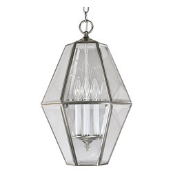 Progress Lighting - Progress Lighting Transitional Foyer Light X-90-6173P - This gorgeous Transitional Foyer Light by Progress Lighting exudes class and elegance. This lighting fixture features six sides of clear beveled glass and endless sides of sophistication. Brighten up your home with this beautiful piece!