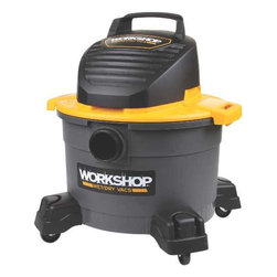 PRO-TEAM - 6 Gal Workshop Vacuum - 360 Swivel, on-board storage.