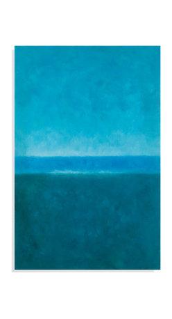 Bassett Mirror - Bassett Mirror Hand-Painted Canvas, Blue Horizon - Blue Horizon