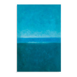 Bassett Mirror - Bassett Mirror Hand-Painted Canvas, Blue Horizon - Blue Horizon