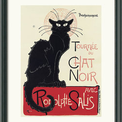 Amanti Art - Tournee du Chat Noir (White) Framed Print by Theophile Alexandre Steinlen - Add some feline refinement to your favorite setting. This iconic cat — the work of revered art nouveau printmaker Theophile Alexandre Steinlen — makes a striking graphic statement in your decor.