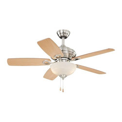 "Vaxcel Lighting - Vaxcel Lighting Valencia 42"" Transitional Ceiling Fan X-NS99924NF - This Vaxcel Lighting ceiling fan from the Valencia Collection features updated finishes and classic details. Five reversible fan blades are paired with an elegant alabaster glass diffuser, whose soft curvature compliments the beveled detailing and other traditional elements of the Satin Nickel finished body."