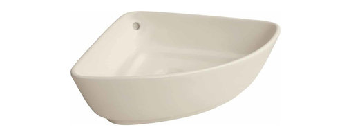 Renovators Supply - Vessel Sinks Bone Ottawa On Counter Vessel Sink - Overcounter Sinks: Counter top sink for tight consoles or existing countertops. High Quality Grade A Vitreous China. Sophisticated yet simple. Note: does not mount onto wall.