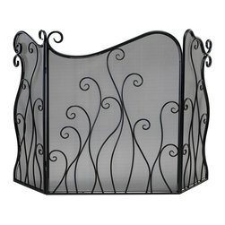 Cyan Design - Cyan Design Evalie Fire Screen X-85520 - The curled branches of facade hint at a fiery inspiration on this Cyan Design fire screen. From the Evalle Collection, this elegant fire screen features curvilinear shaping and a fine mesh screen, with iron construction and a stunning Bronze finish.