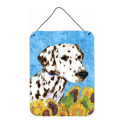Caroline's Treasures - Dalmatian Aluminium Metal Wall Or Door Hanging Prints - Great for inside or outside these Aluminum prints will add a special touch to your kitchen, bath, front door, outdoor patio or any special place.  12 inches by 16 inches and full of color.  This item will take direct sun for a while before it starts to fade.  Rust and Fade resistant.  Aluminum Print with Hanging Rope.  Rounded Corners.