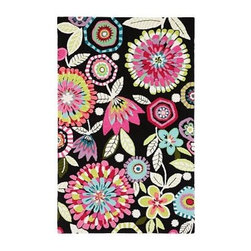 Bella Floral Rug - Add a bold element of luxury to you daughter's bedroom with this floral rug. Hand tufted, this soft and warming floor cover is a perfect piece to work a room around.
