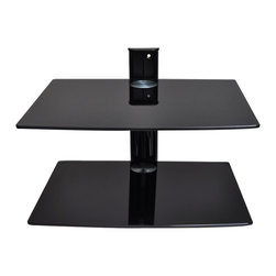 TV & DVD Accessories SDVD202 - DVD Shelf SDVD202 for LED TV, LCD TV, PLASMA TV screens with 44 lbs load capacity.