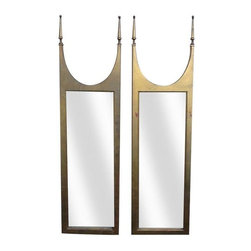 Antique Gilded Mirrors - A Pair -