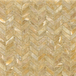 None - Sweet Honey Onyx Chevron Mosaic Polished Tiles (Box of 10 sheets) - Sweet Honey Onyx offers a radiant and luxurious dimension to our stone assortment. This unique stone is characterized by warmth and incredible depth of color. This unique mosaic will add distinction to any application.