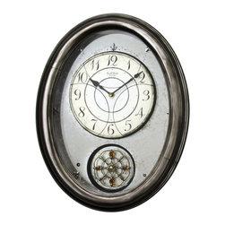 "Rhythm Clocks - 19.7"" x 15.5"" Royal Brilliance Musical Wall - At the top of each hour, the MAGIC Begins!"