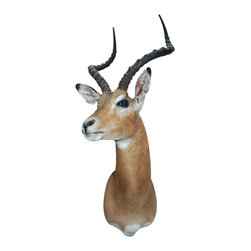 "Walls Need Love - Traditional Antelope Mount Decal - Hang a majestic antelope on your wall and bring a little ""National Geographic"" energy into your world. This realistic, removable decal will transport you to the African Savanna any time of day."