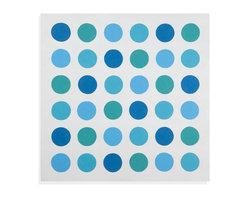 Bassett Mirror - Bassett Mirror Hand-Painted Canvas, Whimsical Dots - Whimsical Dots
