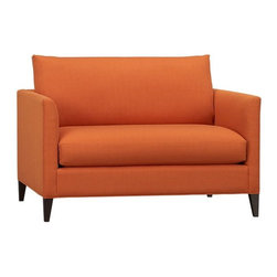 Klyne Chair and a Half - I would put this orange chair and a half in a living room, bedroom or office to add a little cheer.