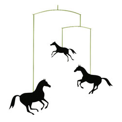 Flensted Mobiles - Horse Mobile - The horse mobile features three gorgeous black stallions and is the perfect addition to your child's room or nursery! Quickly add the finishing touch with one of these hand-made kids mobiles from Flensted Mobiles. Made of plastic, this hanging mobile is sure to withstand the test of time.