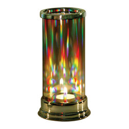 The Love Light Candleholder - A hand-blown crystal candle holder that turns candlelight and sunlight into