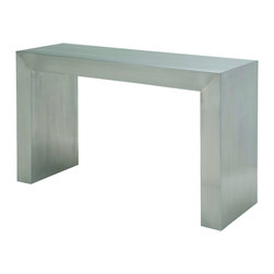 Nuevo Living - Reese 4ft Stainless Steel Sofa Table by Nuevo - HGTA982 - The Reese sofa table features a