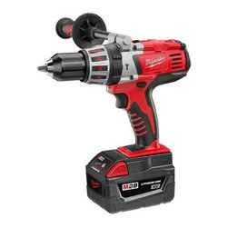 Milwaukee Electric Tools - M28 1/2 In Hammer Drill Kit - Variable speed Hammer/Drill uses the high power motor to develop maximum torque and  RPM, ideal for drilling larger holes and driving larger screws faster; comes standard with a 1/2 inch all-metal, single-sleeve, ratcheting chuck with all carbide jaws tha  t keeps bits from falling out and drill bits from slipping, non-slip, soft-grip handle reduces vibration and fatigue. Specs: 28V/DC, 0-600/0-1,800 RPM, 750 in-lbs. of maximum torque,  length 9-1/4 , weight  6.7lbs. Includes: drill, (2) 28V Lithium-Ion ba  tteries, (1) one hour charger, side handle, No. 2 Phillips bit.      This item cannot be shipped to APO/FPO addresses.  Please accept our apologies