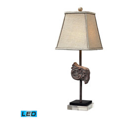Dimond Lighting - Dimond Lighting Weeping Water Artifact Buffet Lamp w/ Acrylic Base - LED Offerin - Artifact Buffet Lamp w/ Acrylic Base - LED Offering Up To 800 Lumens belongs to Weeping Water Collection by Dimond Lighting Lamp (1)