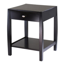 Winsome - Winsome Cleo End Table in Dark Espresso Finish - Winsome - End Tables - 92015 -Unique design and profile to the table top and legs is what make Cleo Collection so special. Perfect for any style decor.
