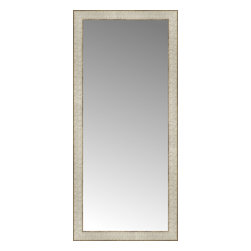 """Posters 2 Prints, LLC - 18"""" x 39"""" Libretto Antique Silver Custom Framed Mirror - 18"""" x 39"""" Custom Framed Mirror made by Posters 2 Prints. Standard glass with unrivaled selection of crafted mirror frames.  Protected with category II safety backing to keep glass fragments together should the mirror be accidentally broken.  Safe arrival guaranteed.  Made in the United States of America"""