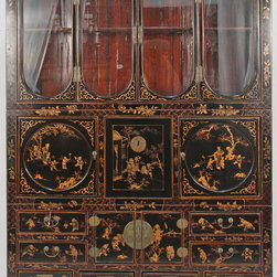 Antique Chinese Chinoiserie-Style China Cabinet - Antique Chinese Chinoiserie-Style China Cabinet