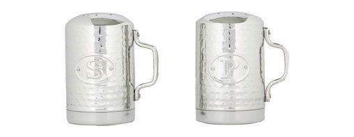 Old Dutch International - Stainless Steel Hammered Stovetop Salt & Pepper Set - Seasoning is the secret to your good cooking. So keep these handsome hammered stainless steel shakers within easy reach. They'll add flavor to your kitchen as well as your cuisine.