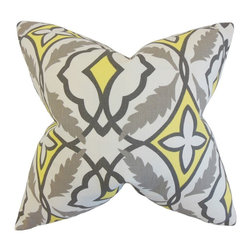 "The Pillow Collection - Beck Geometric Pillow, Gray 18"" x 18"" - Lend elegance and beauty to your home with this throw pillow."