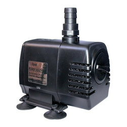 Alpine Fountains - Power Head T Pump w 16 Ft. Cord (450 GPH) - Choose Capacity: 450 GPHIncludes 16 ft. power cord. Flow control. Oil free magnetic driven, epoxy protected ceramic shaft. Cost saving, energy efficient operation. Ceramic impeller for long life. Reliable and quiet submersible water pump. Warranty: Three years. Made from plastic280 GPH Pump:. Power consumption: 17 watts. Max flow: 280 gph. Max head: 69 in.. Outlet size: 0.5 in.. 5 in. L x 3 in. W x 4 in. H (3 lbs.)450 GPH Pump:. Power consumption: 20 watts. Max flow: 450 gph. Max head: 77 in.. Outlet size: 0.5 in.. 6 in. L x 5 in. W x 5 in. H (4 lbs.)550 GPH Pump:. Power consumption: 40 watts. Max flow: 550 gph. Max head: 86 in.. Outlet size: 0.5 in.. 6 in. L x 4.5 in. W x 5 in. H (4 lbs.)Alpine power head pumps are ideally suited for replacement pumps in concrete and resin statuary and birdbaths utilizing moving water. The larger statuary water gardening pumps feature a non-clogging, built in prefilter and higher head height for servicing taller fountains, statues, and all water gardening applications. These energy-efficient pumps are compact to also fit into statuary bases. Reliable and quiet submersible water pump