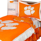 College Covers - NCAA Clemson Tigers Twin X-Long Bed Set Cotton Bedding - FEATURES: