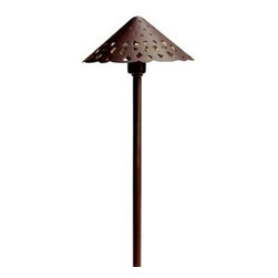 """Kichler Lighting 15871TZT Hammered Roof LED Pathway Light - Get 10% discount on your first order. Coupon code: """"houzz"""". Order today."""