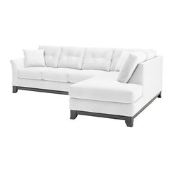 Apt2B - Marco 2-Piece Sectional Sofa - Make yourself comfortable on the Marco Collection. Tufted buttons on the back cushions, and a wood base stained in a rich, espresso finish give it a modern look.