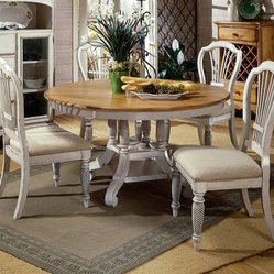 Hillsdale Furniture Wilshire Antique White 7-Piece Dining Set