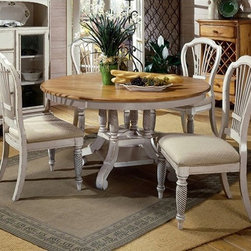 Hillsdale Furniture Wilshire Antique White 7-Piece Dining Set - This Downton-inspired breakfast nook set is suitable for the parlor, or in my case, the eat-in kitchen.
