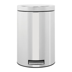 Brabantia Pedal Bin, 3 Gallon, Brilliant Steel