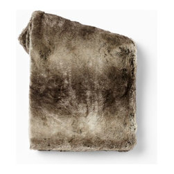 Ombré Faux Fur Throw, Mocha - I love faux fur! And this blanket would help warm up the coldest room.
