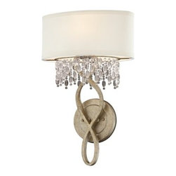 "Savoy House - Savoy House 9-1054-1 Crystal 1 Light 18.13"" Height Wall Sconce from the Palais C - Savoy House 9-1054-1 Palais Crystal 1 Light 18.13"" Height Wall SconceAn assortment of dazzling crystals cascade down from pale cream shades, while a lustrous Gold Dust finish provides the perfect sparkling back drop for this romantic family.Features:"