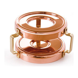 Mauviel - Mauviel M'heritage Copper & Stainless Steel Heater With Candle For Mini Saucepan - Bilaminated copper stainless steel (90% copper and 10% 18/10 stainless steel)