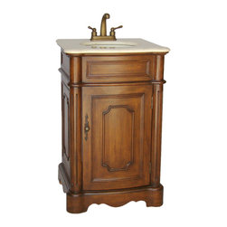 "Benton Collection - 21"" Powder Room Teega Bathroom Sink Vanity - Fully assembled"