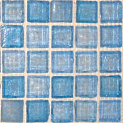 Clear Blue Ice Glass Mosaic -