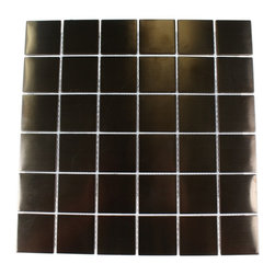 """Metal Rose Stainless Steel Square Tiles - Metal Rose Stainless Steel 2""""x2"""" Squares Metal Tile This clean geometric design with the metal rose stainless steel is chic and visually striking. The tile will provide any room with a sleek, stylish and contemporary appearance. This is a great alternative to use for in a kitchen back splash, feature wall or as decorative borders. Chip Size: 2""""x2"""" Color: Metal Rose Material: Metal Finish: Matte Sold by the Sheet - each sheet measures 12"""" x 12"""" (1sq. ft.) Thickness: 5mm Please note each lot will vary from the next."""