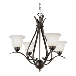 Trans Globe Lighting - Trans Globe Lighting ES Ribbon Branched Transitional Chandelier X-BOR 0829-LP - This beautifully smart chandelier presents a casual look with a graceful touch. The Trans Globe Lighting ES Ribbon Branched Transitional chandelier illuminates the space with warm, intimate lighting. The marbleized glass offsets the dark rubbed oil bronze finish. The open Metal frame provides an airy vibe to the room.