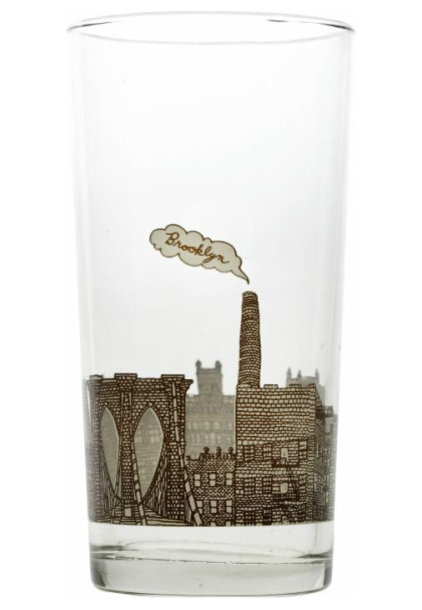 contemporary glassware Brooklyn Glass