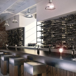 STACT - STACT Modular Wine Wall System - Commercial-grade wine racks and wine storage - Unlike traditional wine racks, STACT will fit in with any commercial application.  Elegant and functional, the STACT Modular Wine Wall System will transform your wine lounge, bar, or fine restaurant into a modern masterpiece.