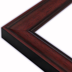 The Frame Guys - Scooped Mahogany with Black Lip Picture Frame-Solid Wood, 9x9 - *Scooped Mahogany with Black Lip Picture Frame-Solid Wood, 9x9